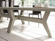 Rectangular solid wood table FUOCO - Domus Arte