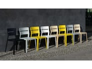 Stackable open back ash chair SATSUMA | Solid wood chair - Schneiderschram