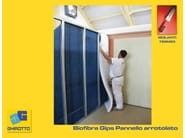 Polyester fibre thermal insulation panel BIOFIBRA GIPS - GHIROTTO TECNO INSULATION