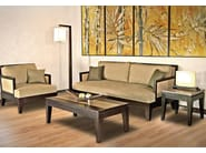 Rectangular wooden coffee table for living room RIKO | Rectangular coffee table - WARISAN