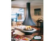 Wood-burning central curved fireplace EVA 992 | Wood-burning fireplace - JC Bordelet Industries