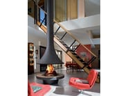 Wood-burning open central fireplace EVA 992 | Central fireplace - JC Bordelet Industries