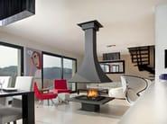 Wood-burning open central fireplace JULIETTA 985 | Wood-burning fireplace - JC Bordelet Industries