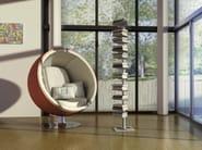 AMBROGIO 9 bookshelf freestanding in alluminium