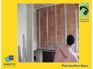 Sound insulation and sound absorbing felt with lead-laminate PIOMBOPAN GIPS - GHIROTTO TECNO INSULATION
