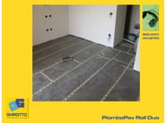 Sound insulation and sound absorbing felt with lead-laminate PIOMBOPAV ROLL DUO - GHIROTTO TECNO INSULATION
