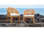 Teak garden chair with armrests SOPHIE | Chair with armrests - WARISAN