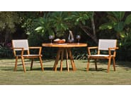 Teak garden chair with armrests BELLA | Chair with armrests - WARISAN