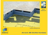 Polystyrene ventilated roof system AIRVENT 28 GRAPHITE - GHIROTTO TECNO INSULATION