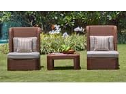 Rectangular rattan garden side table TEABU | Coffee table - WARISAN