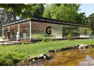 Glass and steel gazebo TEMPORARY GYM - CAGIS