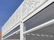 Aluminium and PVC gazebo GAZEBO WITH FLORAL DECORATION - CAGIS