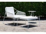 Sled base stainless steel footstool SANDUR | Footstool - OASIQ