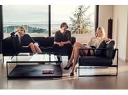 Square glass coffee table MONACO | Square coffee table - Röshults