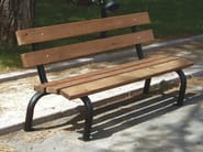 Steel and wood Bench with back CARIOCA - Gruppo Industriale Tegolaia