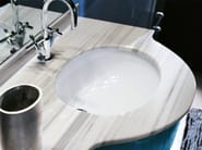 Undermount oval ceramic washbasin DIANA - Edoné by Agorà Group