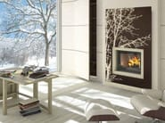 Wood-burning built-in wall-mounted fireplace RIGA - CHEMINEES SEGUIN DUTERIEZ