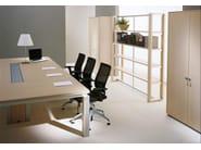 Modular rectangular wood veneer meeting table ELECTA | Modular meeting table - IFT