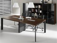 Rectangular steel and wood meeting table PRATIKO   Meeting table - IFT