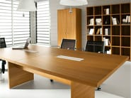 Rectangular melamine-faced chipboard meeting table PRATIKO | Melamine-faced chipboard meeting table - IFT