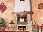 Wood-burning corner fireplace with panoramic glass DIANE - CHEMINEES SEGUIN DUTERIEZ