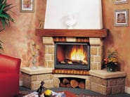 Wood-burning corner fireplace with panoramic glass LAVANDOU - CHEMINEES SEGUIN DUTERIEZ