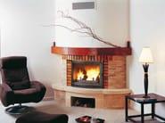 Wood-burning corner fireplace with panoramic glass RONDO - CHEMINEES SEGUIN DUTERIEZ