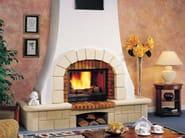 Wood-burning fireplace with panoramic glass LAS PALMAS - CHEMINEES SEGUIN DUTERIEZ