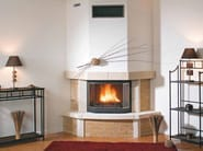 Wood-burning fireplace with panoramic glass LISANNE - CHEMINEES SEGUIN DUTERIEZ