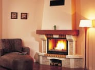 Wood-burning fireplace with panoramic glass NATALIA - CHEMINEES SEGUIN DUTERIEZ