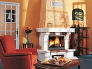 Wood-burning fireplace with panoramic glass ARVERNE - CHEMINEES SEGUIN DUTERIEZ