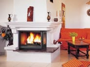Wood-burning corner fireplace with panoramic glass BEAUREGARD - CHEMINEES SEGUIN DUTERIEZ