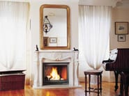 Wood-burning fireplace with panoramic glass VILLANDRY - CHEMINEES SEGUIN DUTERIEZ