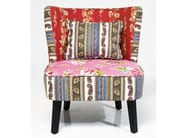 Upholstered fabric armchair CLUB PATCHWORK - KARE-DESIGN