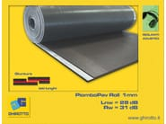 Sound insulation and sound absorbing felt with lead-laminate PIOMBOPAV ROLL - GHIROTTO TECNO INSULATION