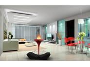 Freestanding bioethanol glass-fibre fireplace O - FLUT I - GlammFire