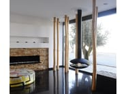 Hanging bioethanol steel fireplace PEROLA - GlammFire