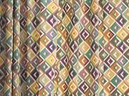 Multi-colored fabric with graphic pattern for curtains ARA | Fabric for curtains - Zimmer + Rohde