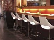 Swivel technopolymer stool with footrest Echo 333 - Metalmobil
