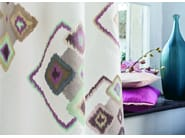 Fabric with graphic pattern for curtains CARACTÈRE | Fabric for curtains - Zimmer + Rohde