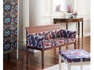 Fabric bench with back ARTE BLOOM - Nikari