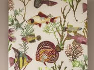 Linen fabric for curtains with floral pattern ARCHIPEL - Zimmer + Rohde