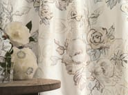 Embroidered silk fabric with floral pattern for curtains L'ABSOLUE - Zimmer + Rohde