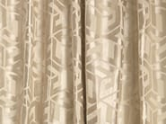 Solid-color fabric with graphic pattern for curtains ASHWELL - Zimmer + Rohde
