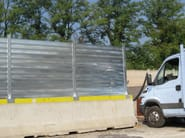 Steel Construction site temporary and mobile fencing Temporary Fencing - OFFICINE LOCATI