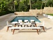 Rectangular Corian® garden table SLIM WOOD DINING 200 - VITEO