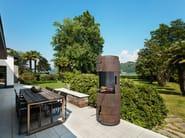 Activated charcoal Corten™ barbecue INTERMEZZO - GlammFire