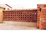 Special clay piece for fair faced facade FRANGISOLE - FORNACE FONTI
