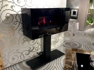 Electric freestanding MDF fireplace with remote control ILLUSION - GlammFire
