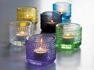 Stained glass candle holder KASTEHELMI | Stained glass candle holder - iittala